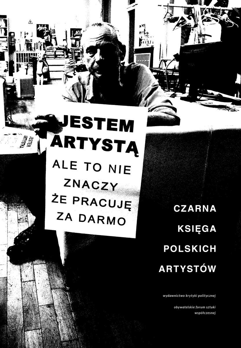 """""""Czarna księga polskich artystów"""" – okładka (źródło: materiały prasowe)"""
