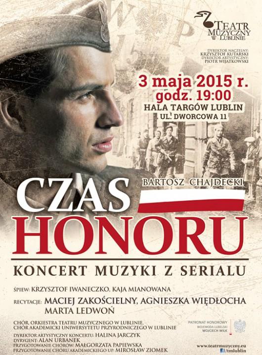 """Koncert muzyki z serialu """"Czas Honoru"""", plakat (źródło: materiały prasowe)"""