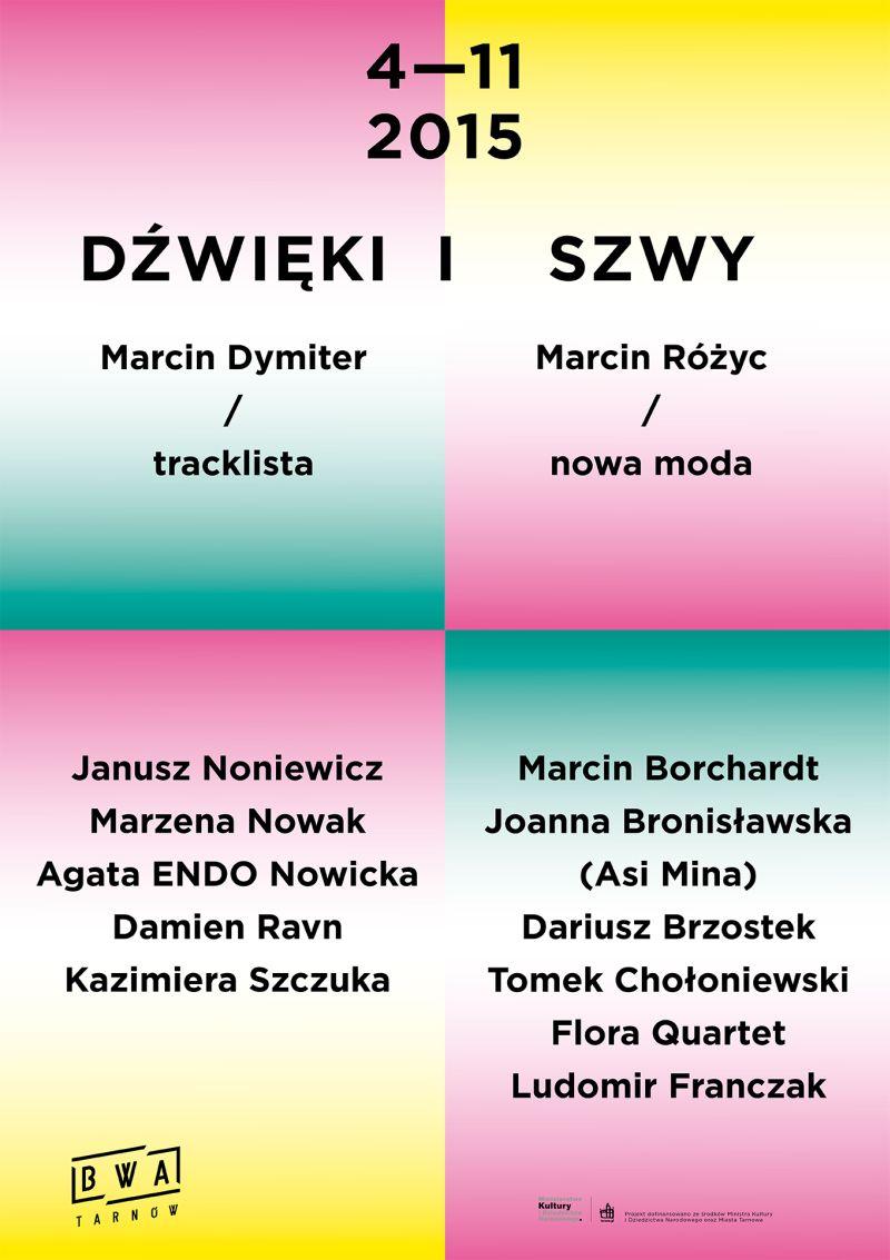 """Cykl spotkań """"Dźwięki i szwy"""" – plakat (źródło: materiał prasowy organizatora)"""