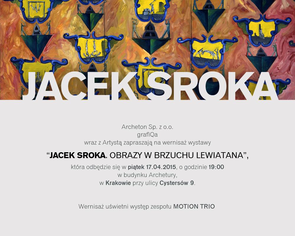 """Wystawa """"Obrazy w brzuchu Lewiatana"""" Jacka Sroki – zaproszenie (źródło: materiał prasowy organizatora)"""