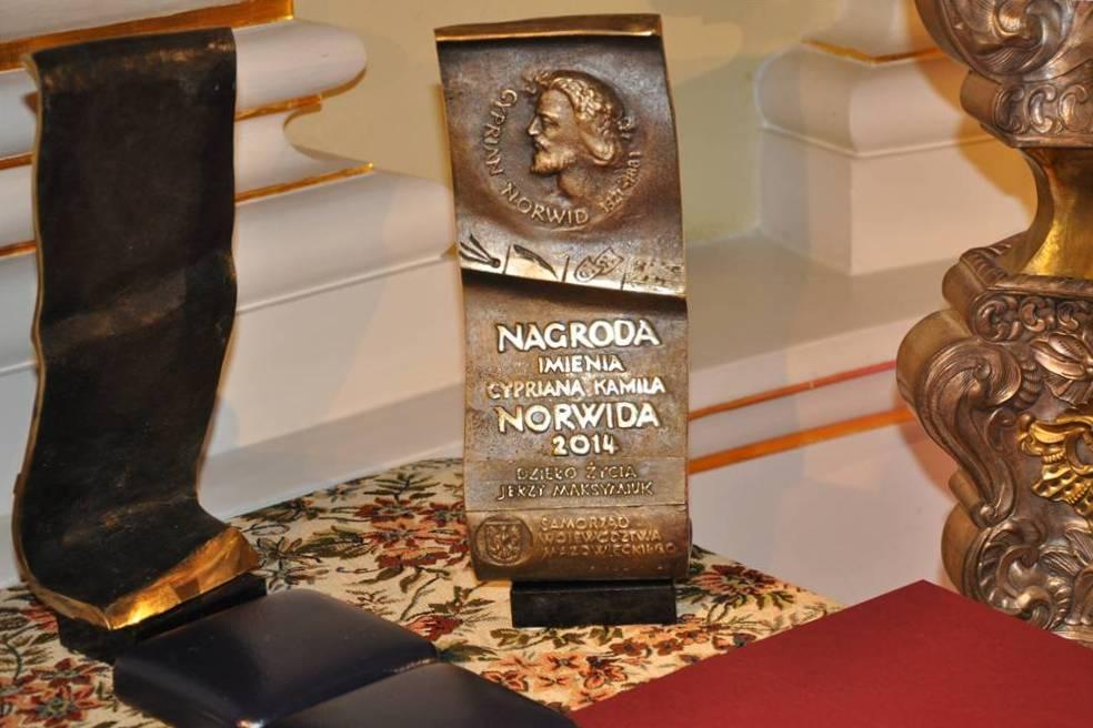 Nagroda im. Cypriana Kamila Norwida – statuetka (źródło: materiał prasowy organizatora)
