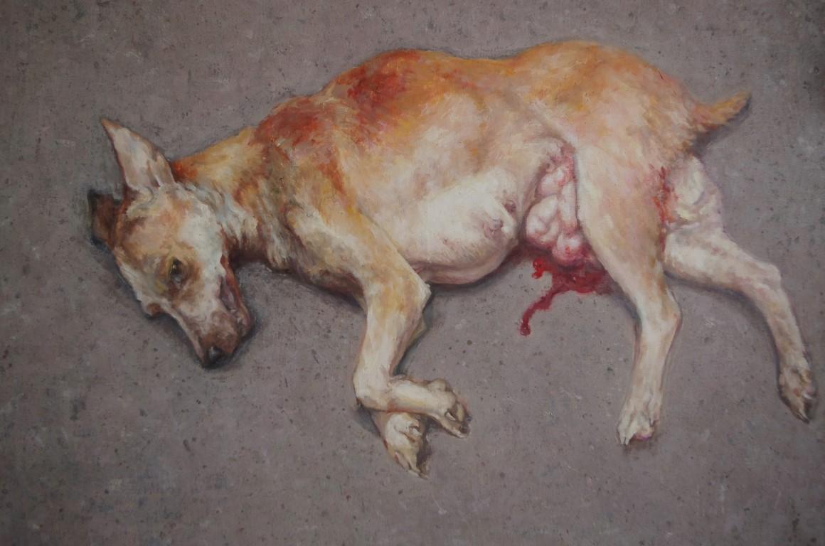 "Paulina Litwin ""Martwa natura. Pies"" (źródło: materiały prasowe organizatora)"