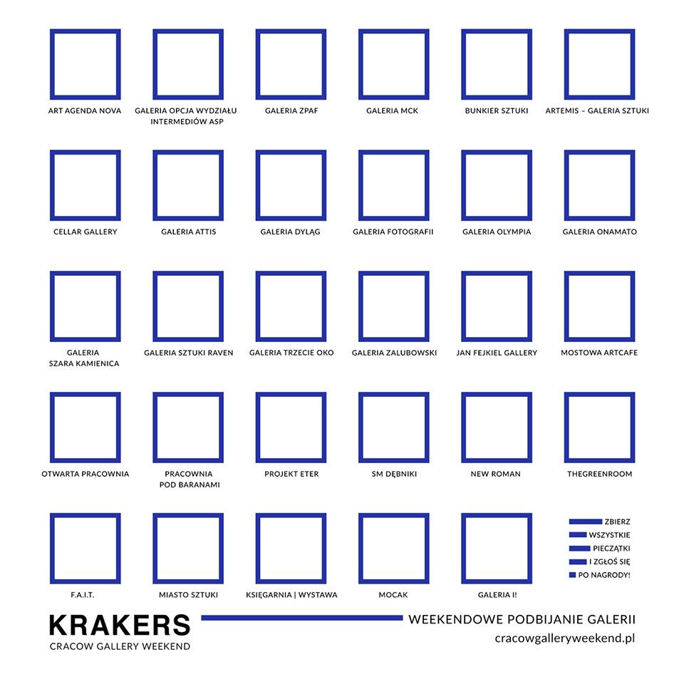 Plakat Cracow Gallery Weekend Krakers (źródło: materiały prasowe organizatora)