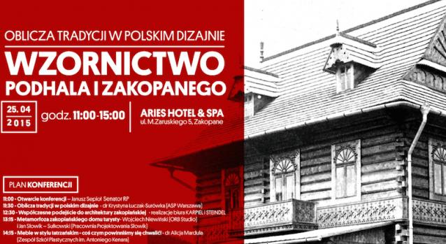 """Plakat konferencji """"Oblicza tradycji w polskim dizajnie"""" (źródło: materiały prasowe organizatora)"""