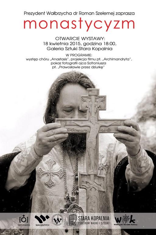 """Plakat wystawy """"Monastycyzm"""" (źródło: materiały prasowe organizatora)"""