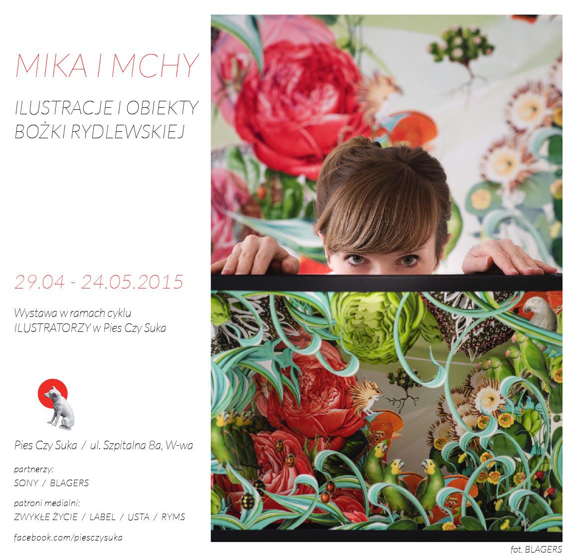 """Plakat wystawy """"Mika i mchy"""" (źródło: materiały prasowe organizatora)"""