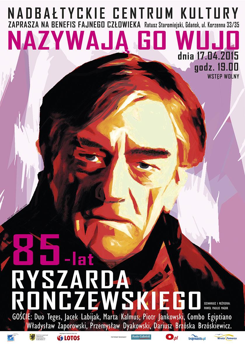 Ryszard Ronczewski, plakat (źródło: materiały prasowe)