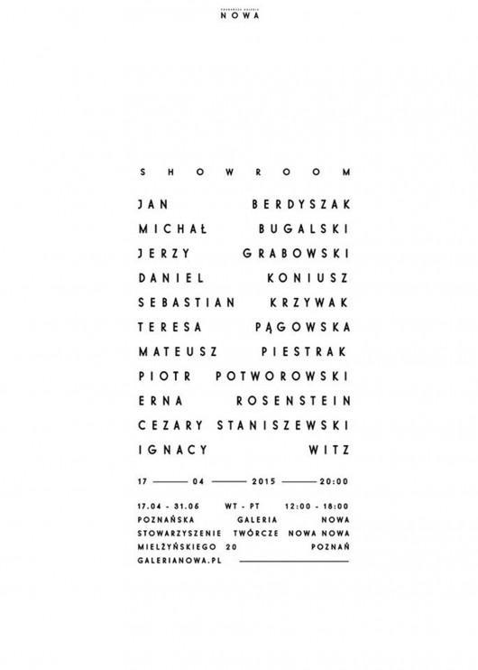 "Projekt ""Showroom"", plakat (źródło: materiały prasowe organizatora)"