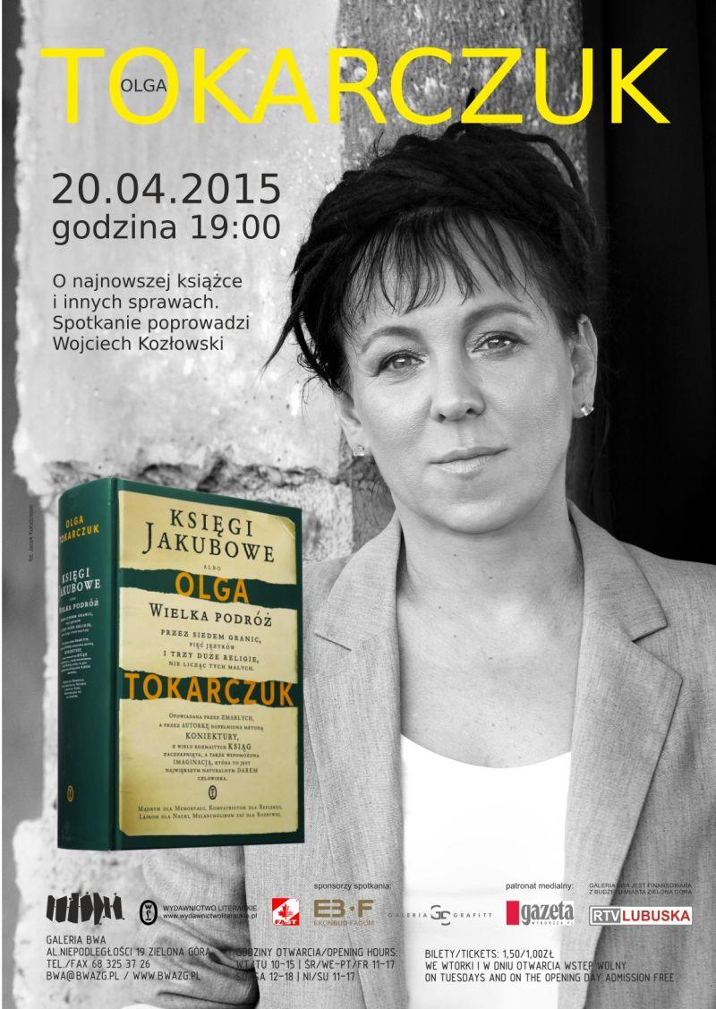 Spotkanie z Olgą Tokarczuk – plakat (źródło: materiał prasowy organizatora)