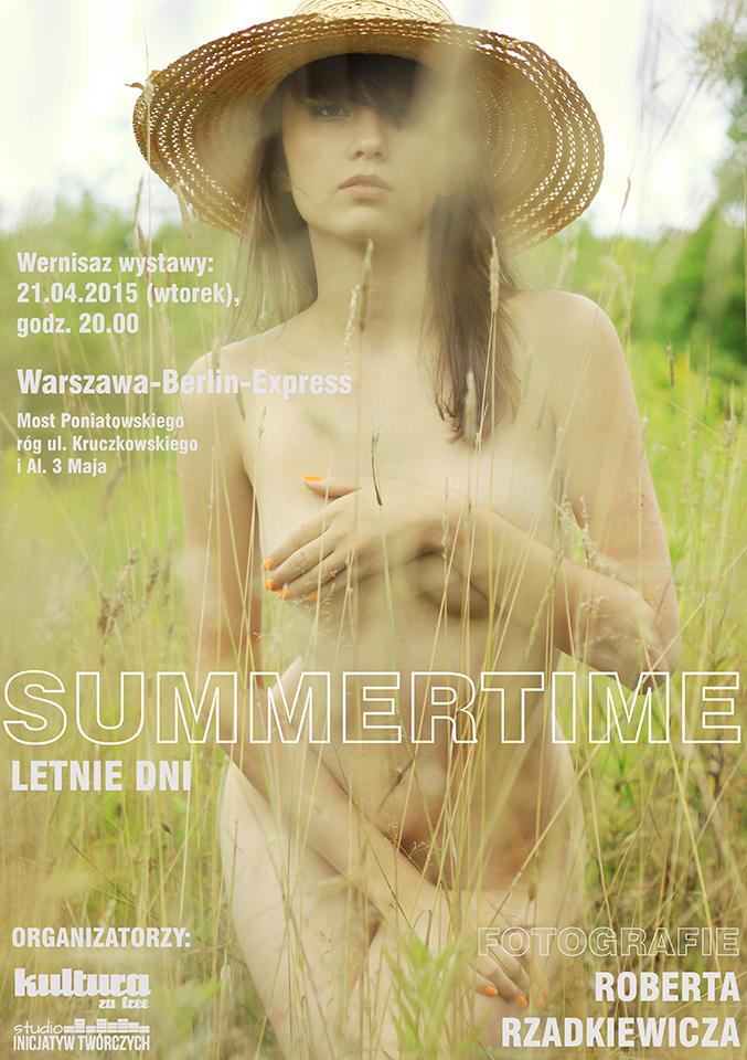 """Wystawa """"Summertime"""", Robert Rzadkiewicz – plakat (źródło: materiał prasowy organizatora)"""