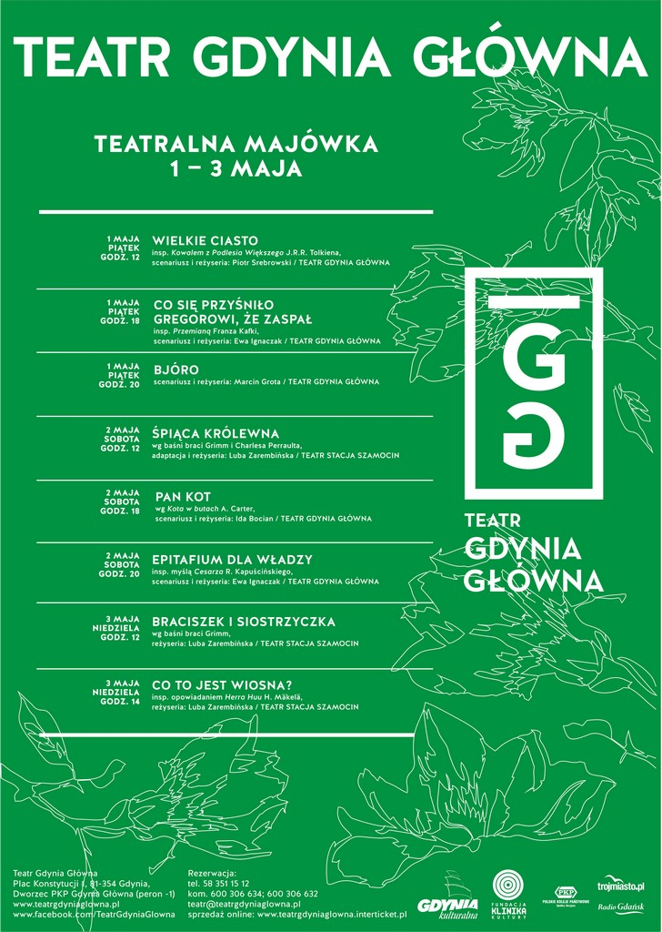 Teatralna Majówka w Teatrze Gdynia Główna – afisz (źródło: materiały prasowe organizatora)