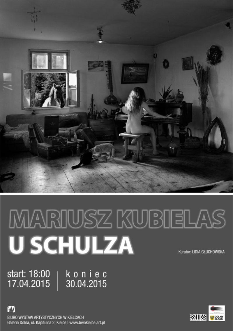 """Wystawa """"U Schulza"""", Mariusz Kubielas – plakat (źródło: materiał prasowy organizatora)"""
