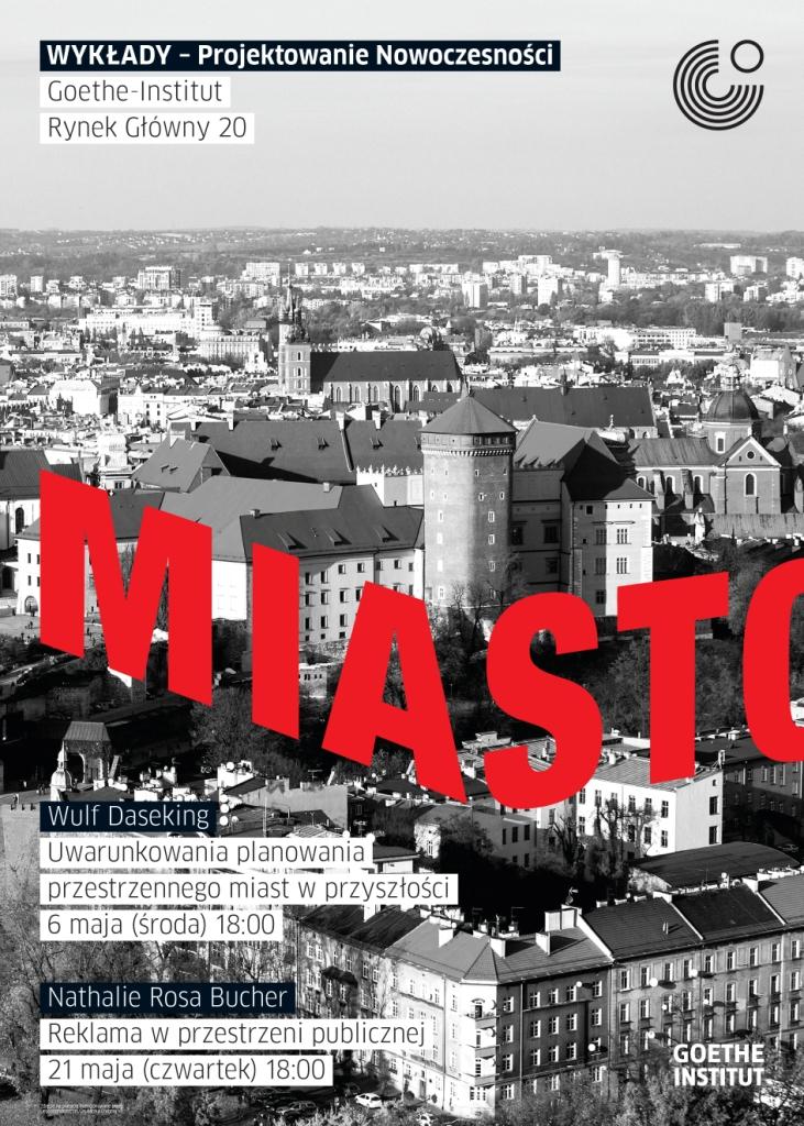 """Wulf Daseking, wykład """"Projektowanie jest przeplecione z życiem w tym mieście"""", plakat (źródło: materiały prasowe organizatora)"""