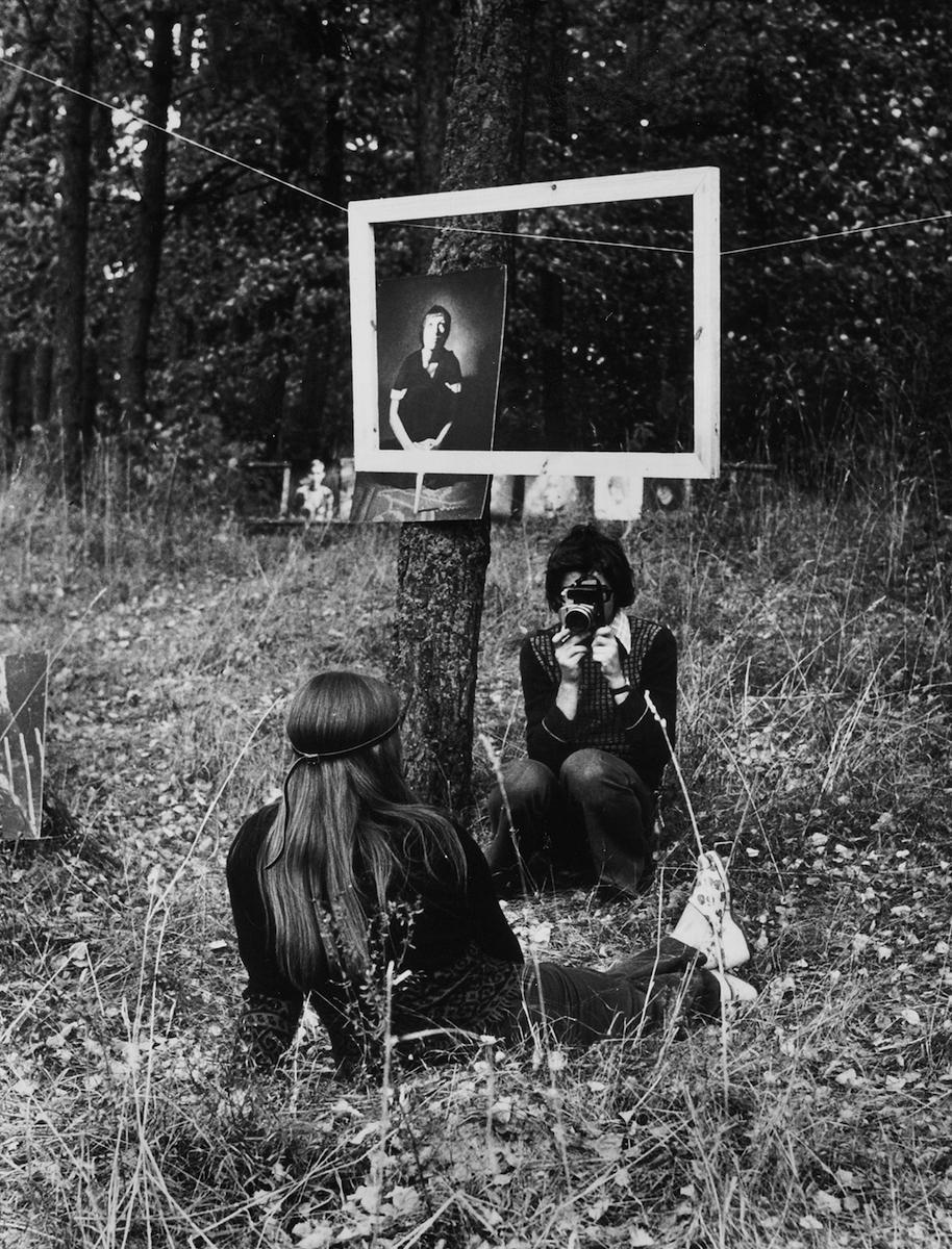 """Grupa ZOOM, """"Żywe portrety"""", Giżycko, 1975 (źródło: materiały prasowe organizatora)"""