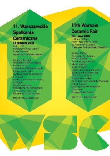 11. Warszawskie Spotkania Ceramiczne – plakat (źródło: materiał prasowy organizatora)