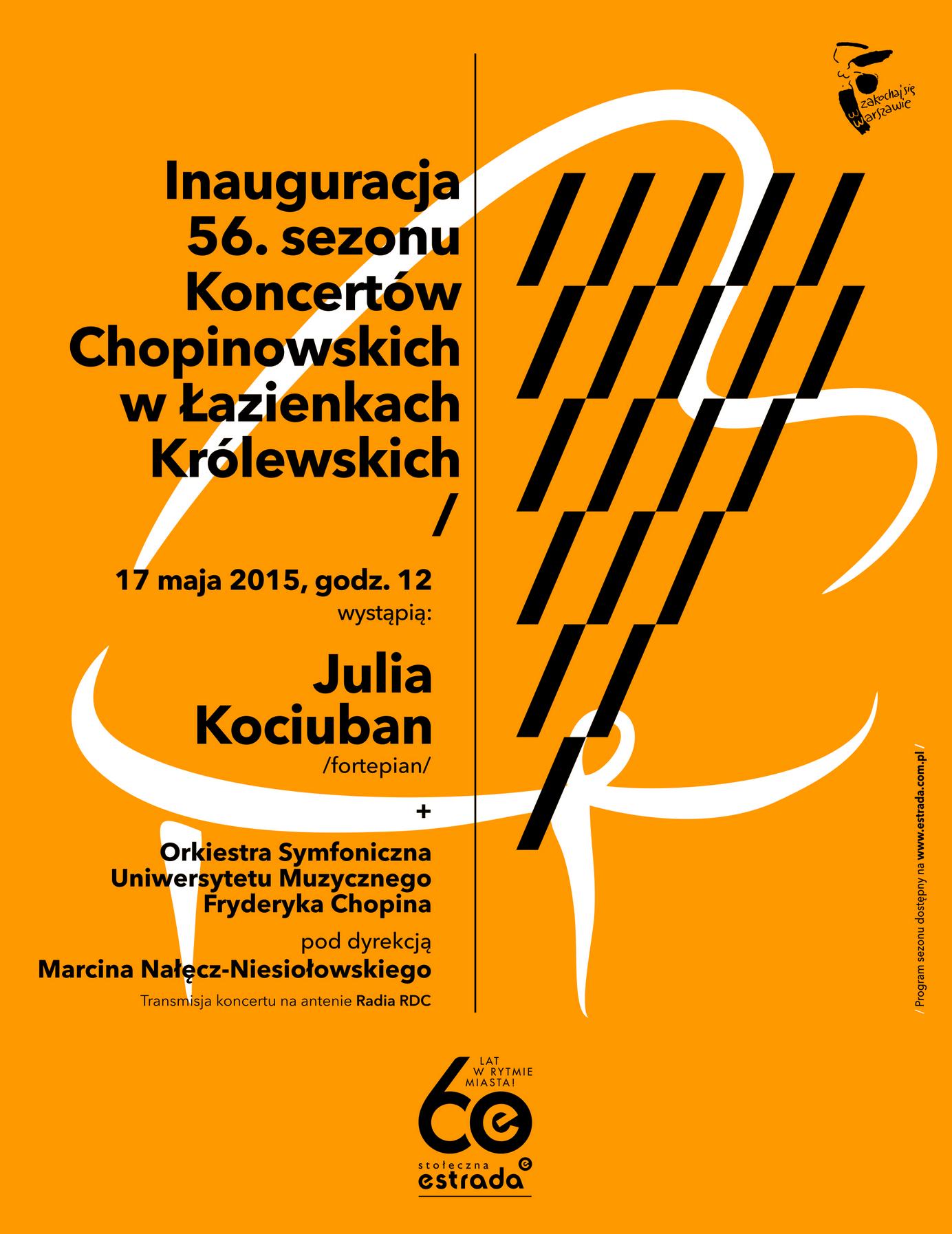 56. sezon Koncertów Chopinowskich, plakat (źródło: materiały prasowe)