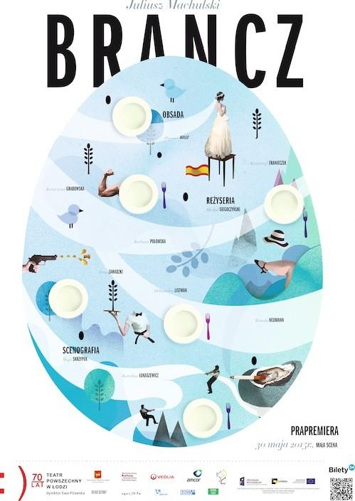 """Spektakl """"Brancz"""" – plakat (źródło: materiał prasowy organizatora)"""