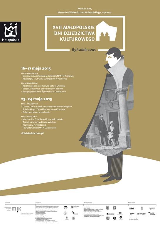Plakat 17. Małopolskich Dni Dziedzictwa Kulturowego (źródło: materiały prasowe organizatora)
