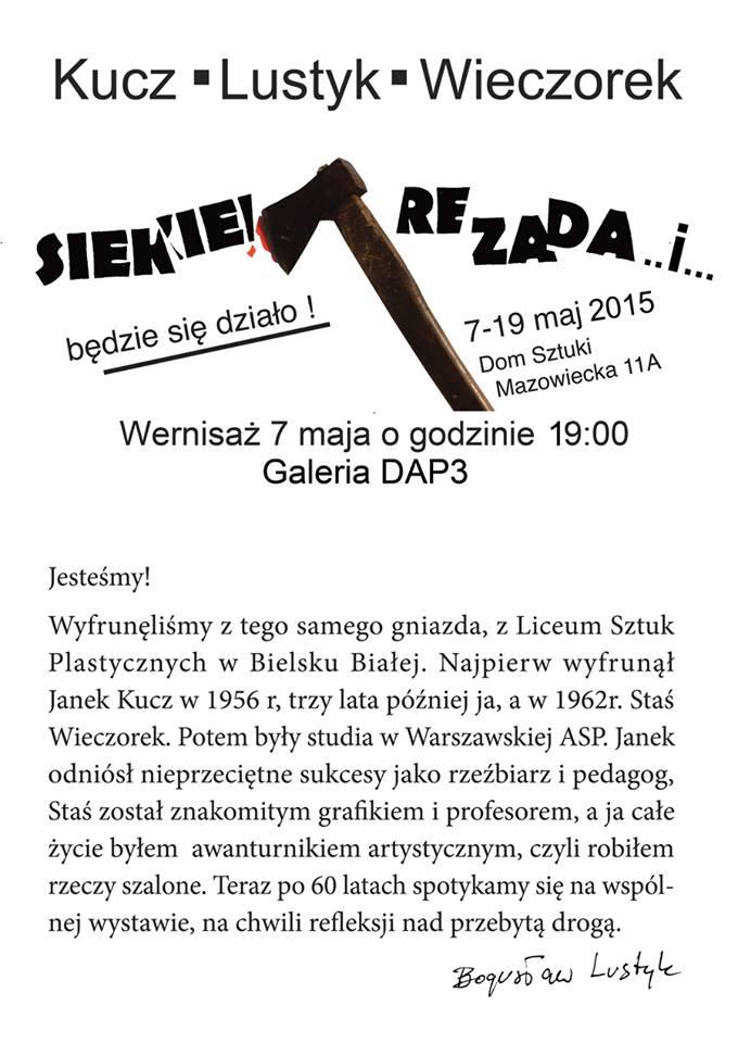 """Plakat wystawy """"Siekierezada..i..."""" (źródło: materiały prasowe organizatora)"""