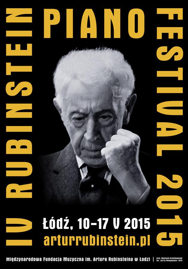 Rubinstein Piano Festival, plakat (źródło: materiały prasowe)