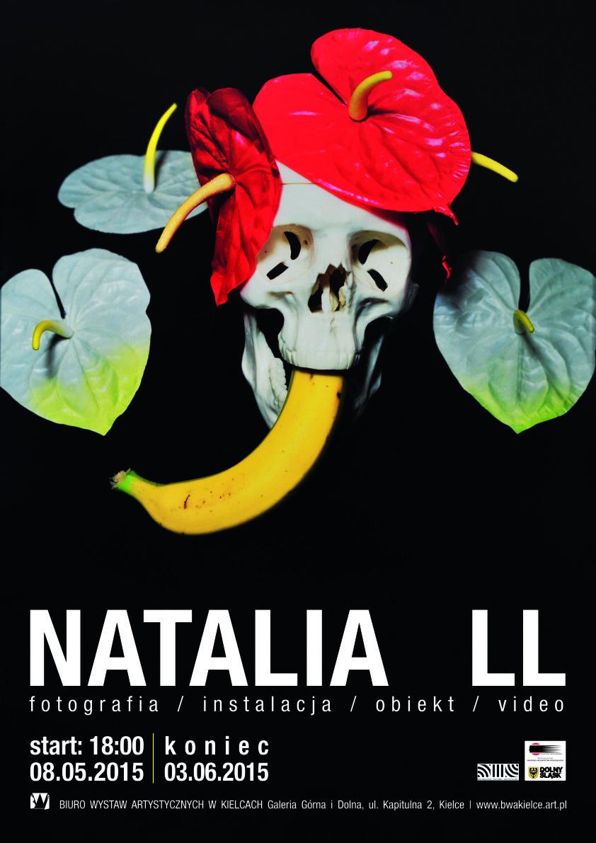 Spotkanie i wystawa Natalii LL – plakat (źródło: materiał prasowy organizatora)