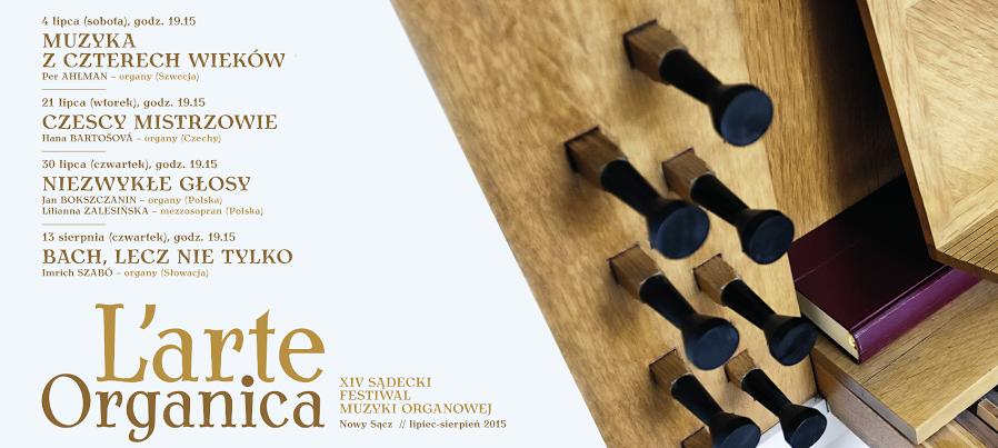 XIV Sądecki Festiwal Muzyki Organowej L'arte Organica – plakat (źródło: materiały prasowe)