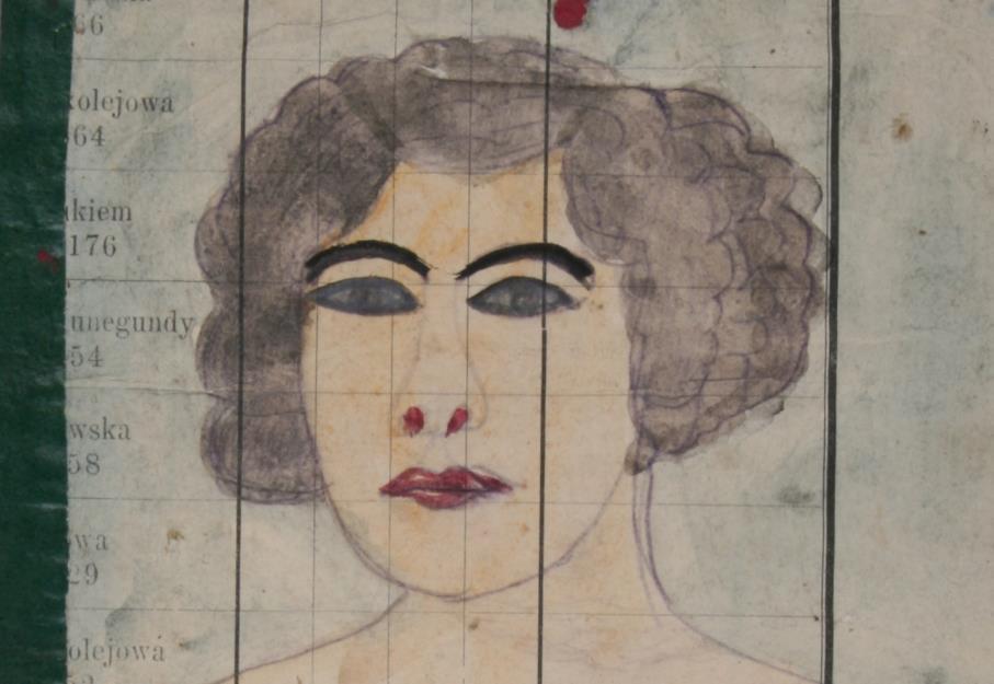 """Epifan Drowniak-Nikifor, """"Portret damy"""", fragment, ok. 1920 (źródło: materiały prasowe)"""