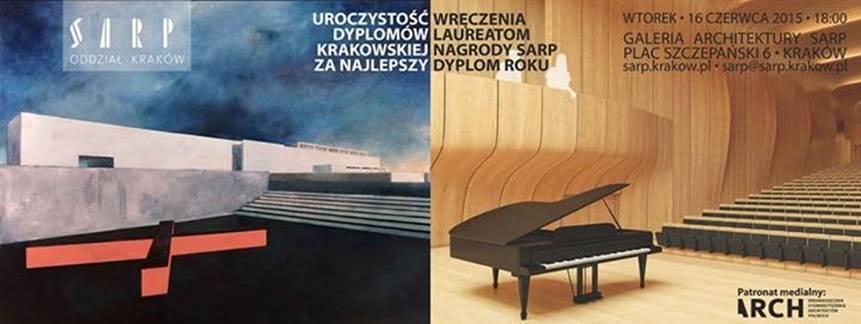Krakowska Nagroda SARP za Najlepszy Dyplom Roku (źródło: materiały prasowe)