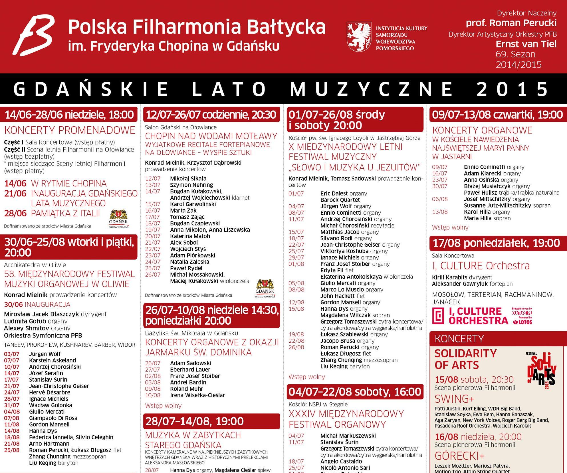 58. edycja Międzynarodowego Festiwalu Organowego (źródło: materiały prasowe)