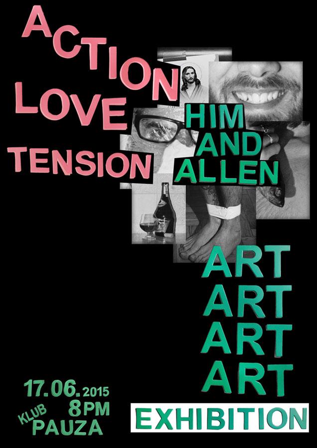 """Oliver Buhlig, """"Him and Allen"""" – plakat (źródło: materiały prasowe)"""