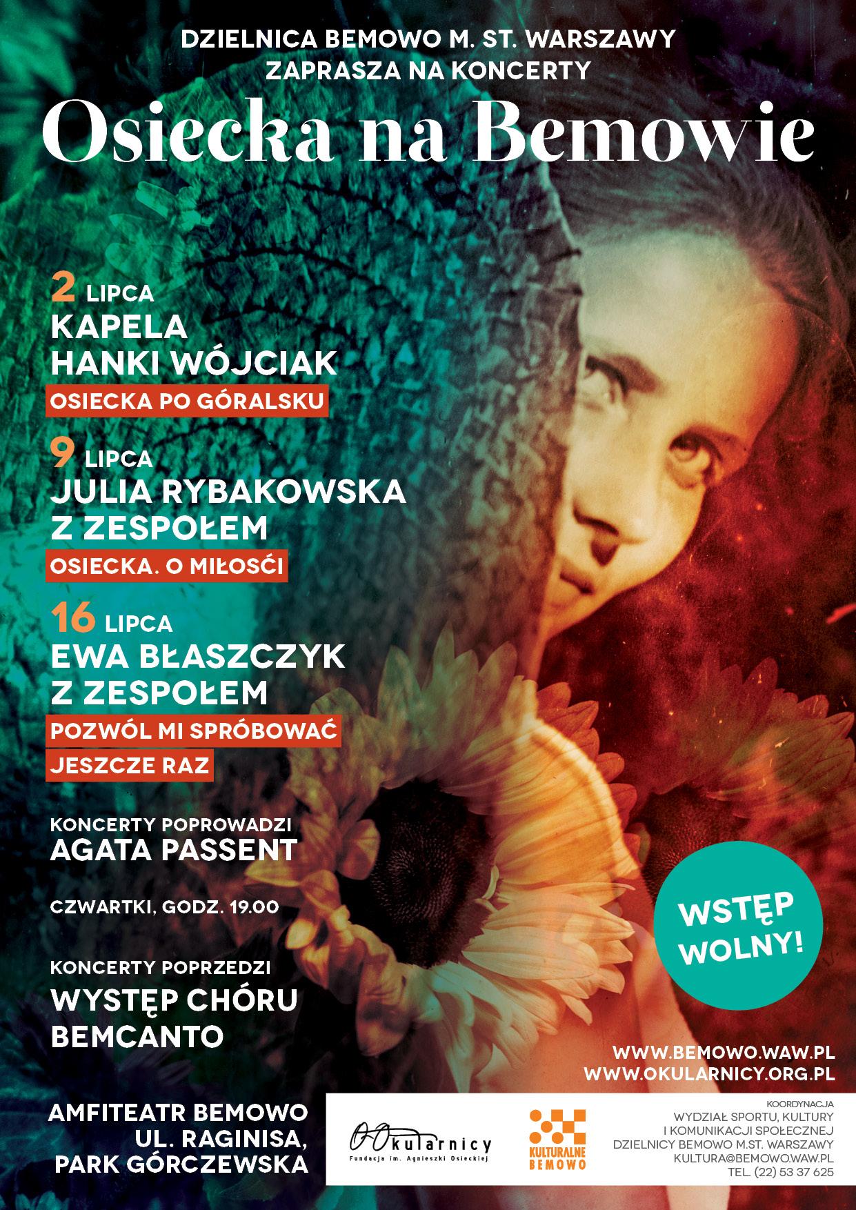 """""""Osiecka na Bemowie"""", plakat (źródło: materiały prasowe organizatora)"""