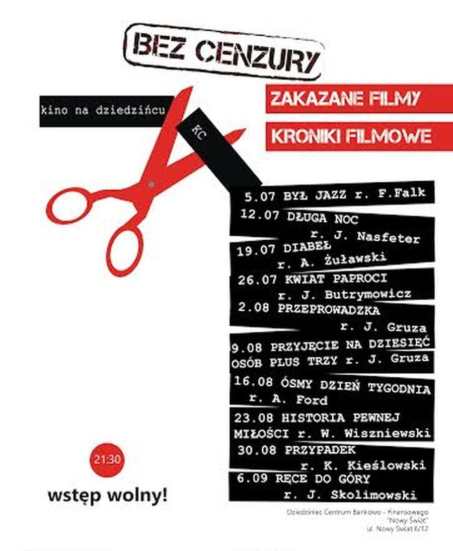 """Przegląd filmów """"Bez cenzury"""" – plakat (źródło: materiały prasowe)"""