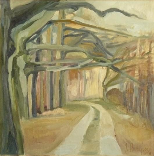 """""""Droga"""", olej na płótnie 70 x 70 cm, 2008 r. (źródło: materiały prasowe organizatora)"""
