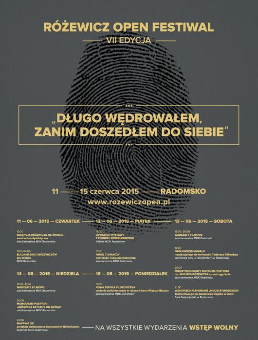 Różewicz Open Festival – plakat (źródło: materiały prasowe organizatora)
