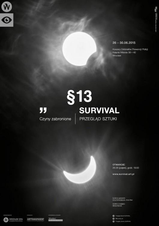 13. Przegląd Sztuki Survival – plakat (źródło: materiały prasowe)