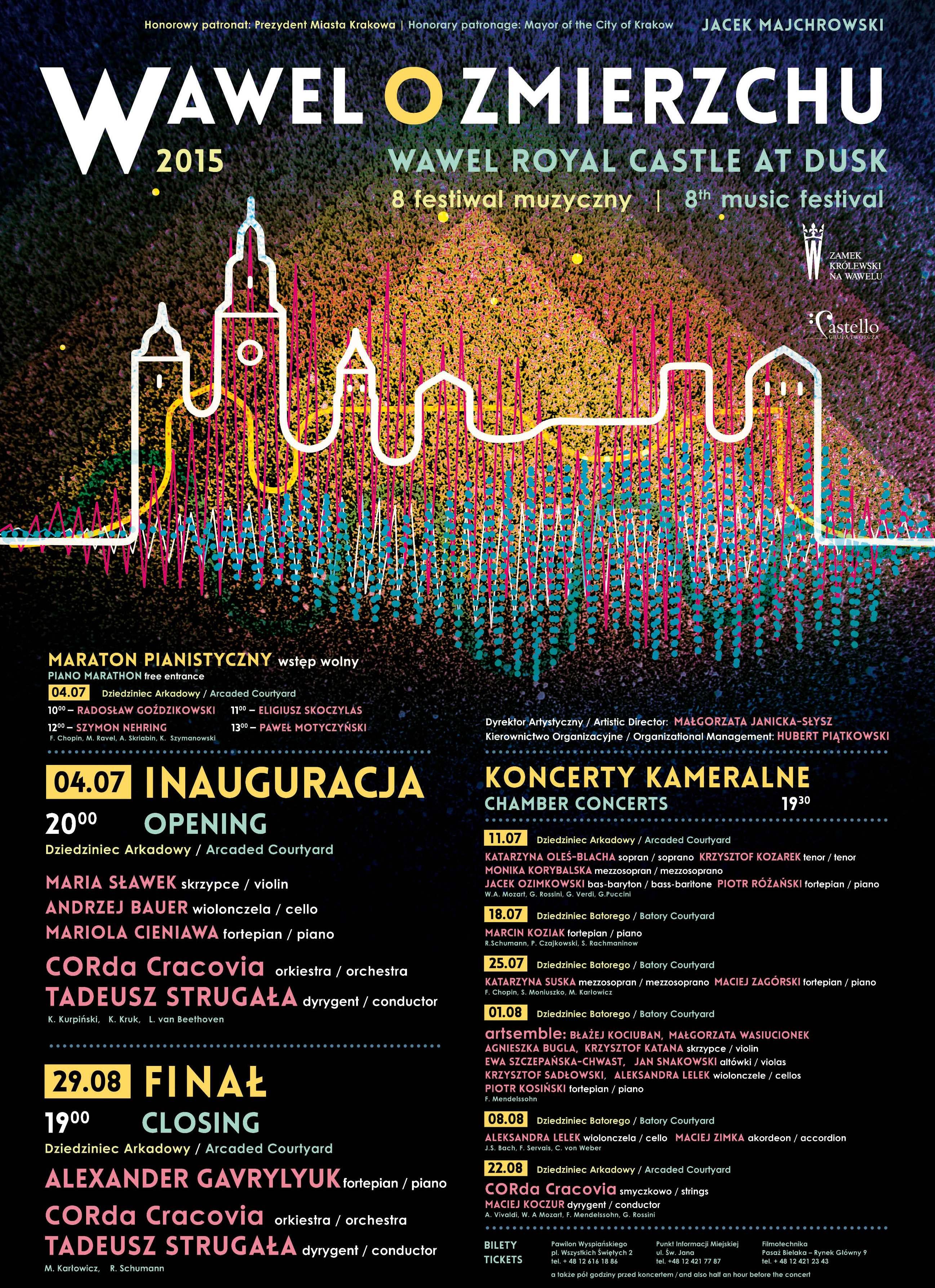 """VIII Festiwal """"Wawel o zmierzchu"""", plakat (źródło: materiały prasowe)"""