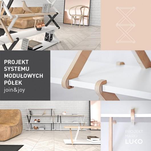 JOIN&JOY, Łukasz Paszkowski,system moduowych półek, Young Design 2015 (źródło: materiały prasowe organizatora)