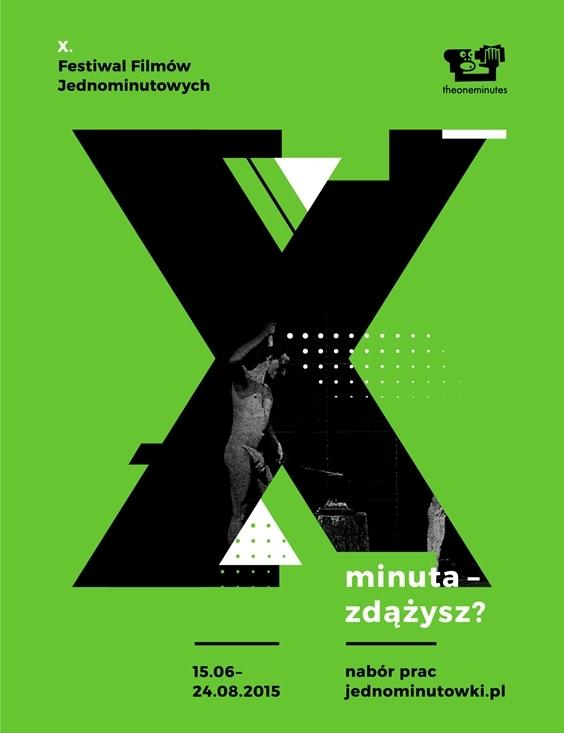10. Festiwal Filmów Jednominutowych – plakat (źródło: materiały prasowe organizatora)