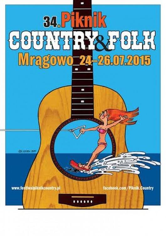 34. Międzynarodowy Festiwal Piknik Country&Folk – plakat (źródło: materiały prasowe)