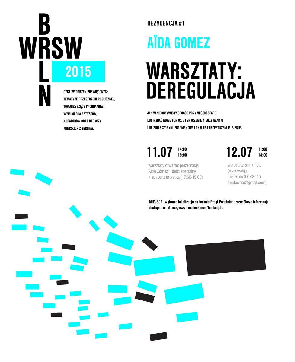Warsztaty z Aïdą Gómez – plakat (źródło: materiały prasowe)