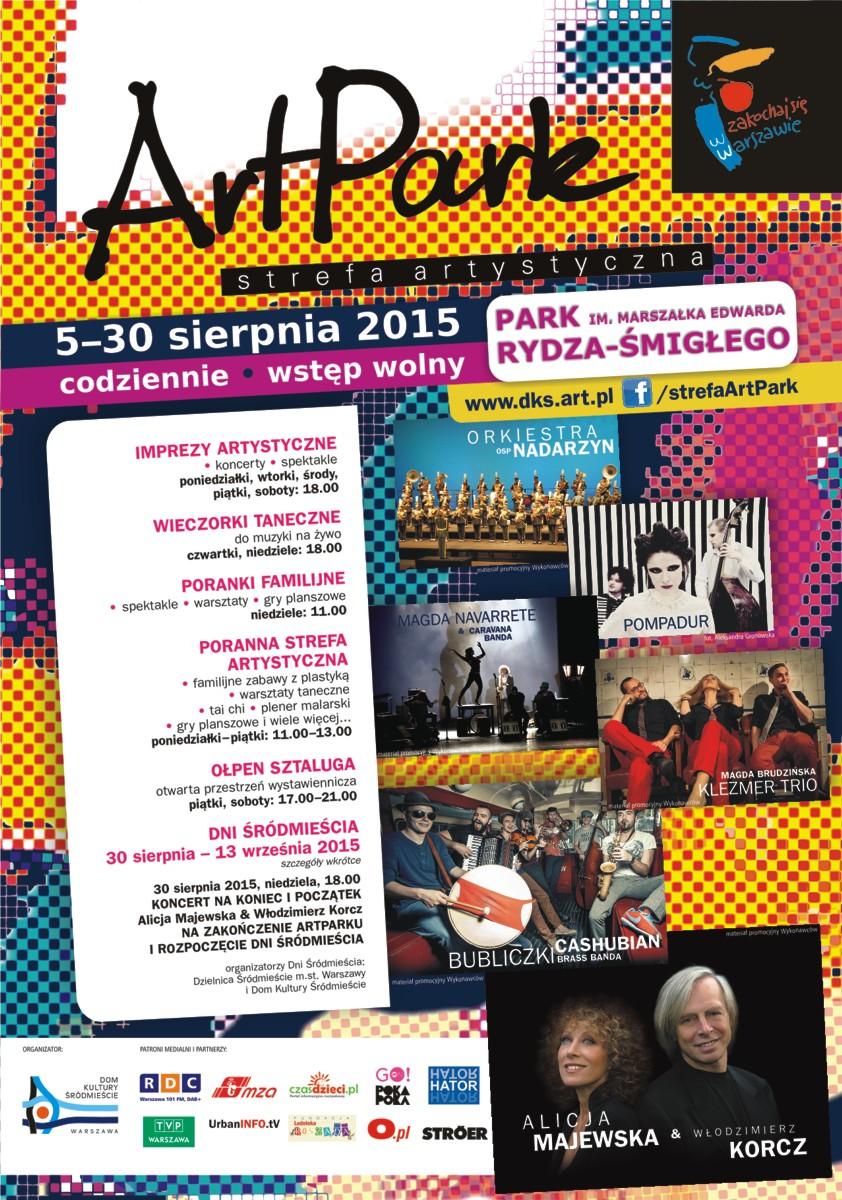 """""""ArtPark – strefa artystyczna"""" – plakat (źródło: materiały organizatora)"""