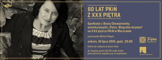 Beata Chomątowska – spotkanie w Pałacu Kultury i Nauki w Warszawie (źródło: materiały prasowe wydawcy)