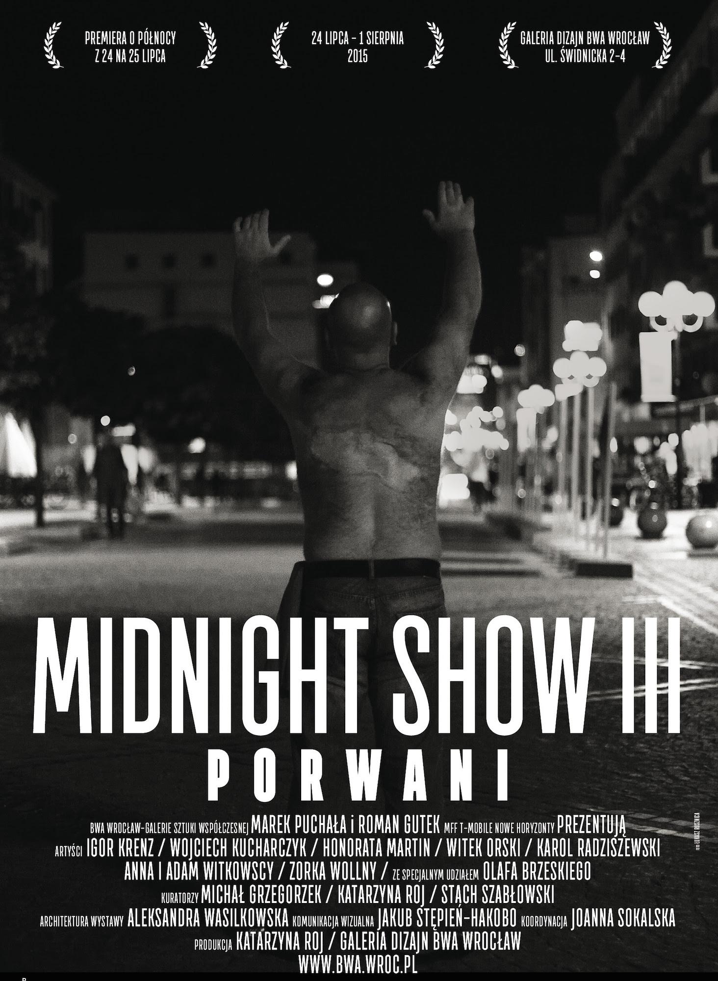 Midnight Show. Porwani, plakat autorstwa Jakuba Stępnia – HAKOBO (źródło: materiały prasowe organizatora)