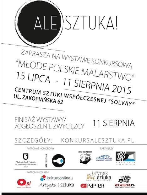 """Wystawa konkursowa """"Ale Sztuka! Młode polskie malarstwo"""", plakat (źródło: materiały prasowe organizatora)"""