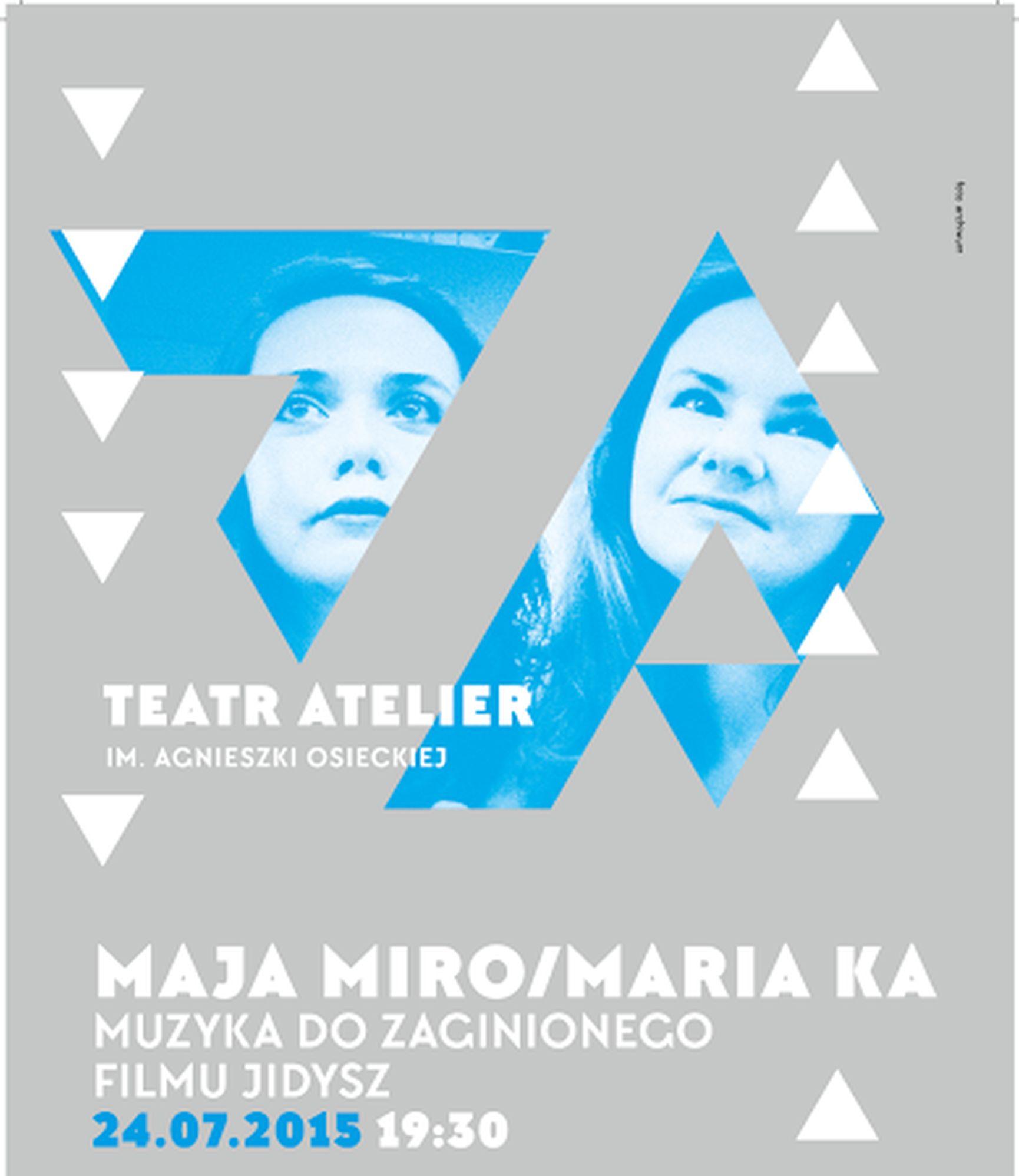 """Maja Miro, Maria Ka, """"Muzyka do zaginionego filmu jidysz"""" – plakat (źródło: materiały prasowe)"""