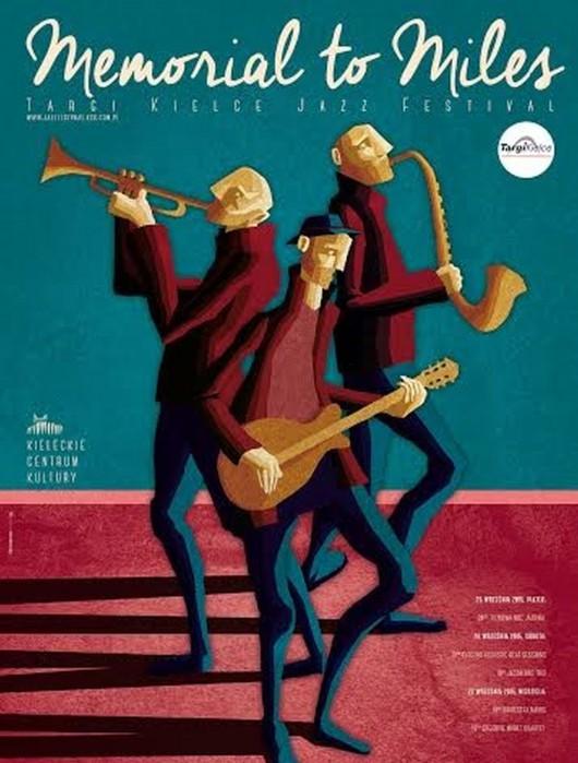 """Targi Kielce Jazz Festival """"Memorial to Miles"""" – plakat (źródło: materiały prasowe)"""