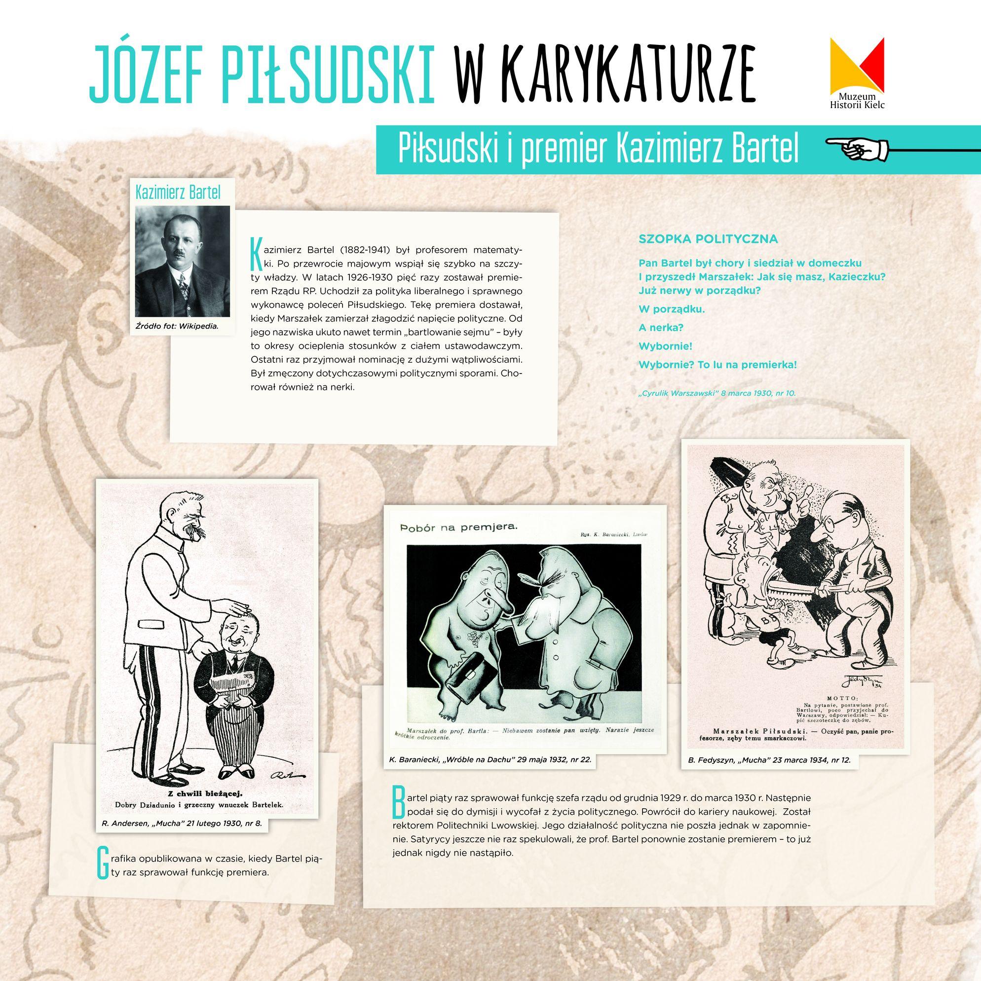 """Wystawa """"Józef Piłsudski w karykaturze"""" (źródło: materiały prasowe organizatora)"""