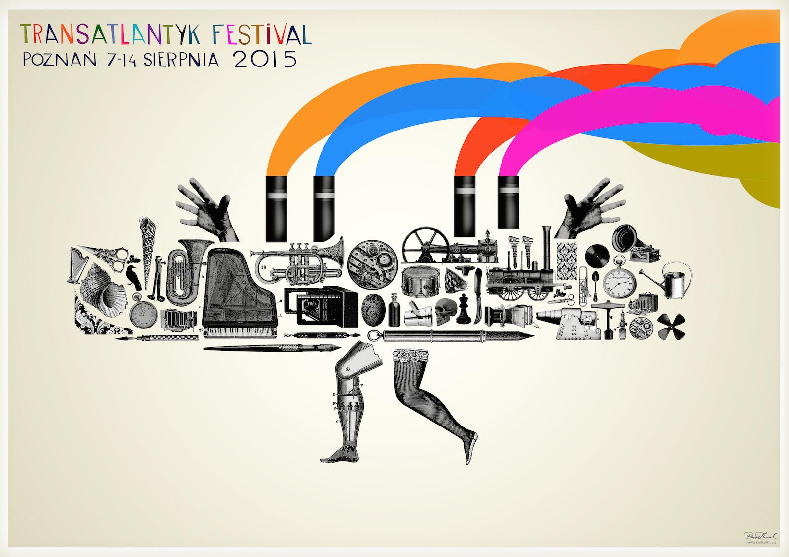 Transatlantyk Festival 2015, plakat (źródło: materiały prasowe organizatora)