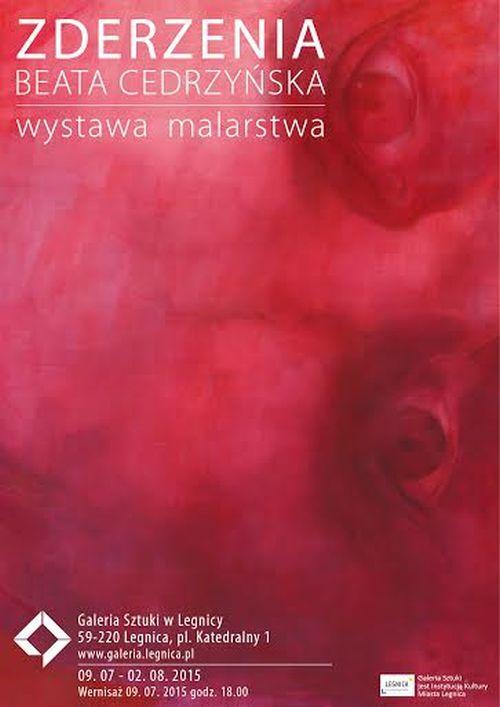 """Beata Cedrzyńska, """"Zderzenia"""" – plakat (źródło: materiały prasowe)"""