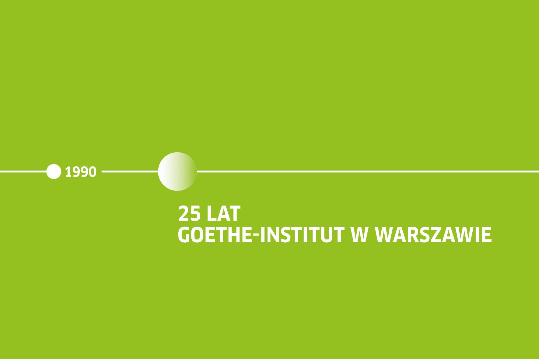 25-lecie Goethe-Institut w Warszawie – logo (źródło: materiały prasowe organizatora)